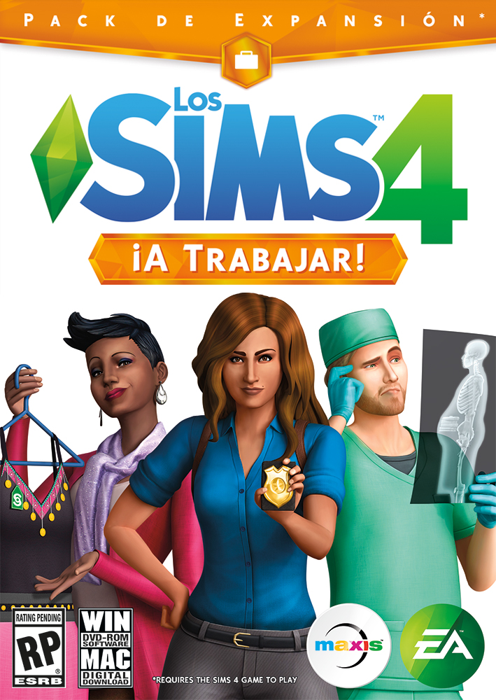 Los Sims 4 a Trabajar ESPAÑOL Full PC Expansion Cover Caratula