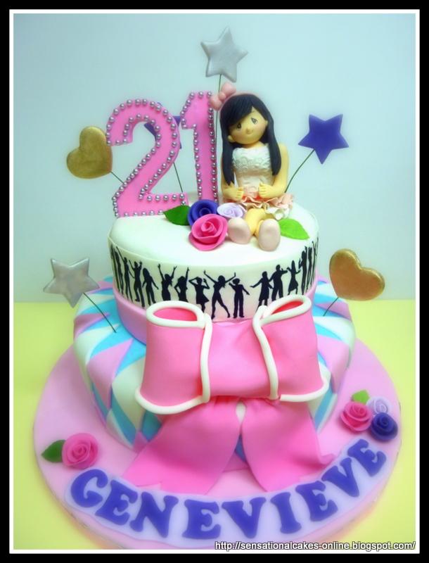 The Sensational Cakes 21st Birthday Cake Singapore Lady