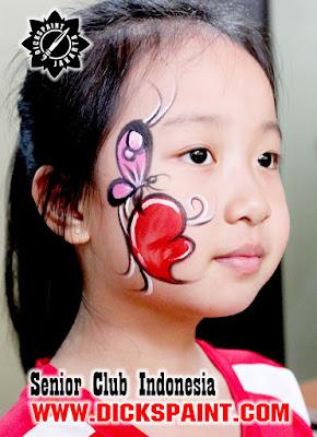 face painting football kids jakarta