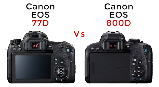 Canon EOS 77D vs Canon EOS 800D - Rear Differences
