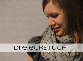 nähen | Glitzer Sterne Dreieckstuch