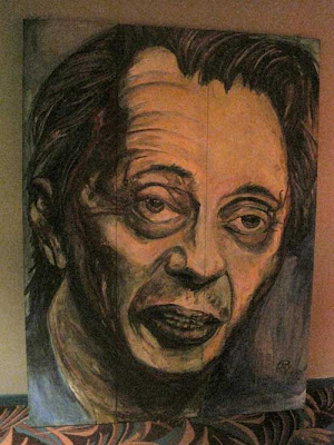 Painting of Steve Buscemi