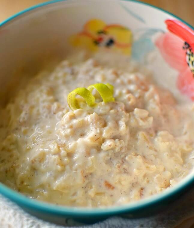 Receta tradicional de arroz con leche, pero se sustituye el arroz blanco por el integral