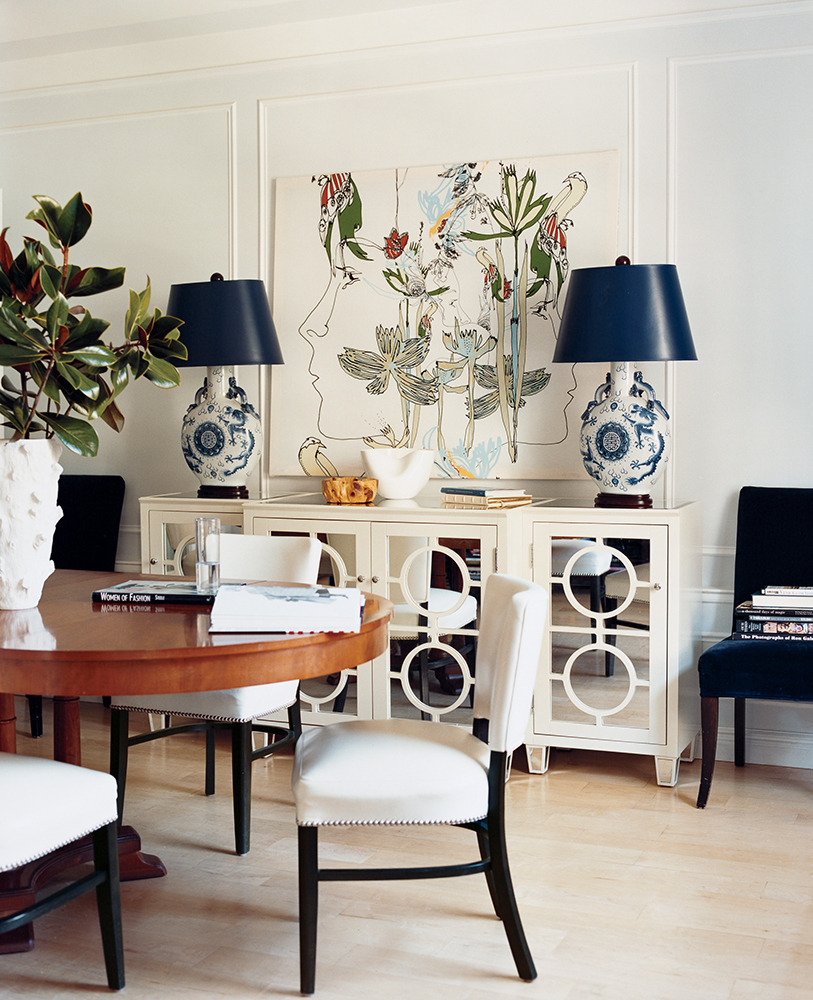 White Dining Room Buffet Mirrored