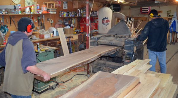 The Wide Plank Flooring Blog: Making Kiln Dried Slabs of Wood