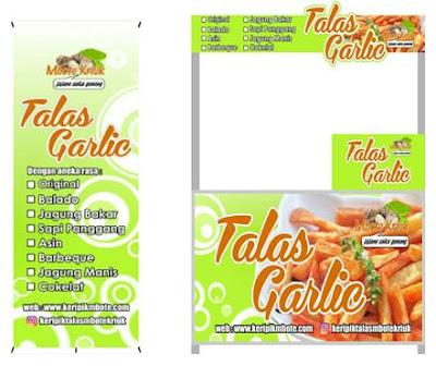 Bisnis Franchise Waralaba Makanan Paling Laris Murah Menguntungkan Saat Ini adalah Talas Garlic