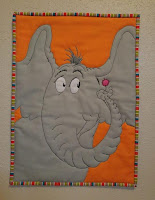 Horton Hears a Who mini quilt Seuss