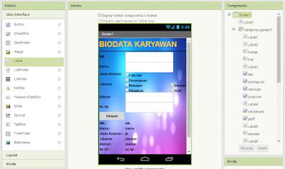 Cara Membuat Program Biodata Sederhana Dengan App Inventor