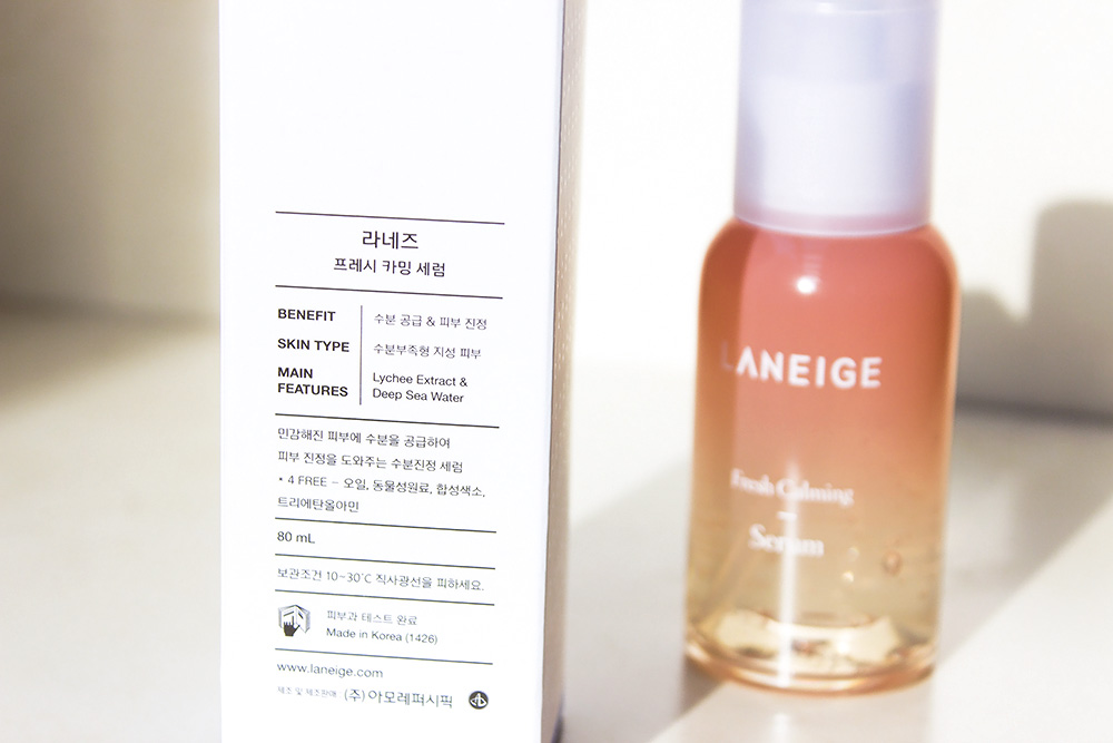 Laneige Fresh Calming Serum ingredients