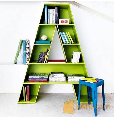 Kumpulan Gambar Rak Buku Dinding Minimalis Kreatif Dan Modern - Rak Buku Minimalis Bentuk Huruf Alphabet