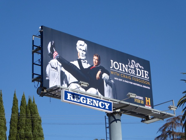 Join or Die series launch billboard