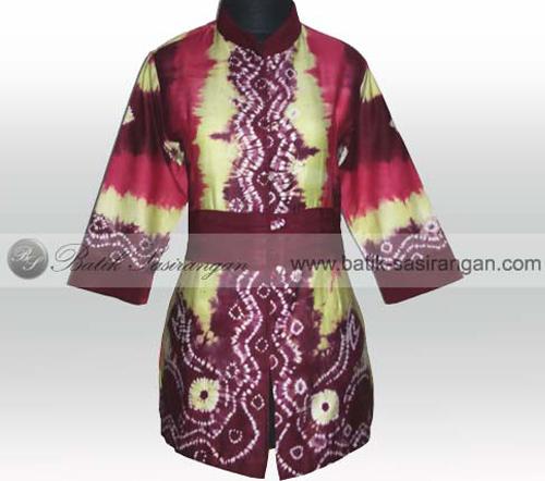 desain baju sasirangan wanita
