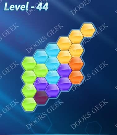 Block! Hexa Puzzle [Intermediate] Level 44 Solution, Cheats, Walkthrough for android, iphone, ipad, ipod