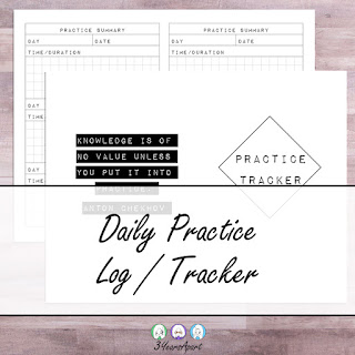 3 Years Apart Daily Practice Tracker Free Printable