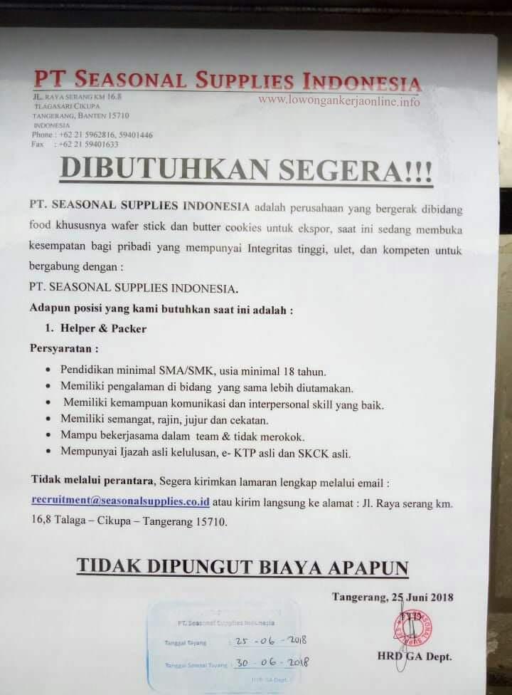 Ilmu Pengetahuan 1 Lowongan Kerja Terbaru Di Tangerang