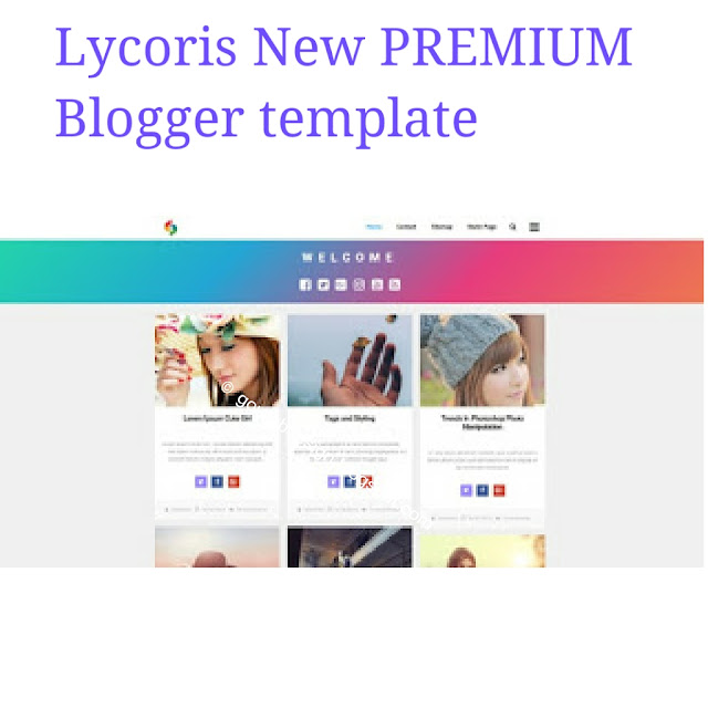 Lycoris new photography blogger template