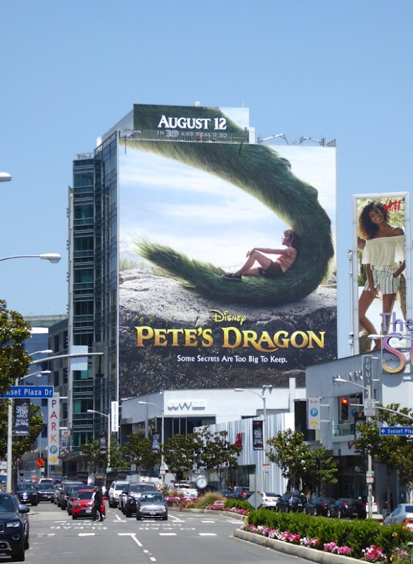 Giant Petes Dragon movie billboard