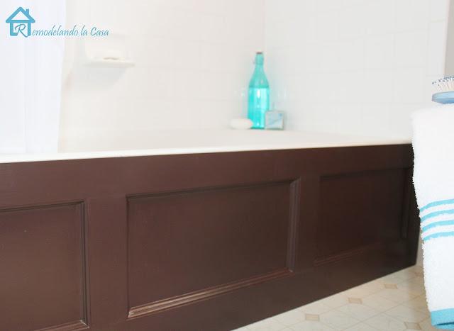 Bathtub Wood Panel Cover Remodelando La Casa