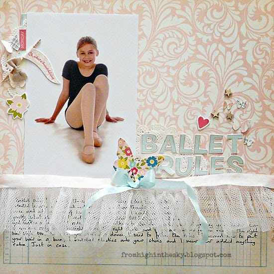 From High In The Sky scrapbooking with tulle for Get It Scrapped
