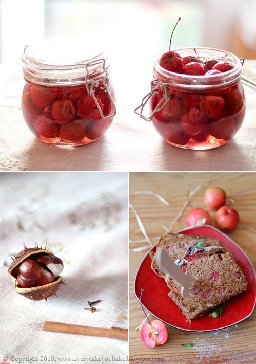 jesienne przetwory - jabłuszka rajskie w syropie