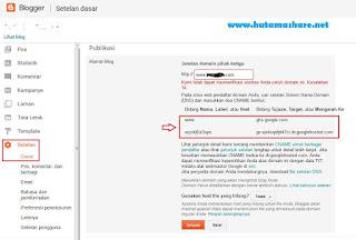 cara rubah blogpot ke com