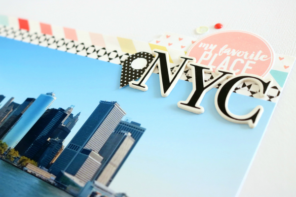 NYC | Scrapbooking Layout | Felicity Jane Juni Kit