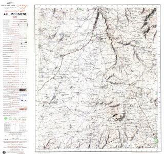 ALI MOUMENE Morocco 50000 (50k) Topographic map free download