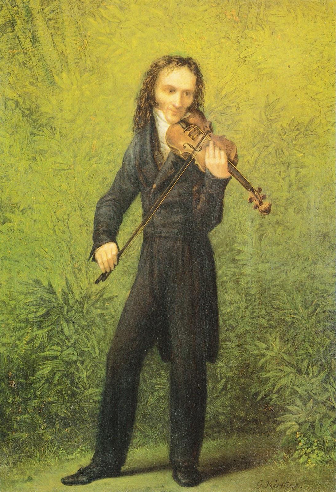 ゲオルク・フリードリヒ・ケルスティングのヴァイオリニストのニコロ・パガニーニの肖像