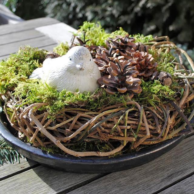 Vogelnest als Gartendeko DIY