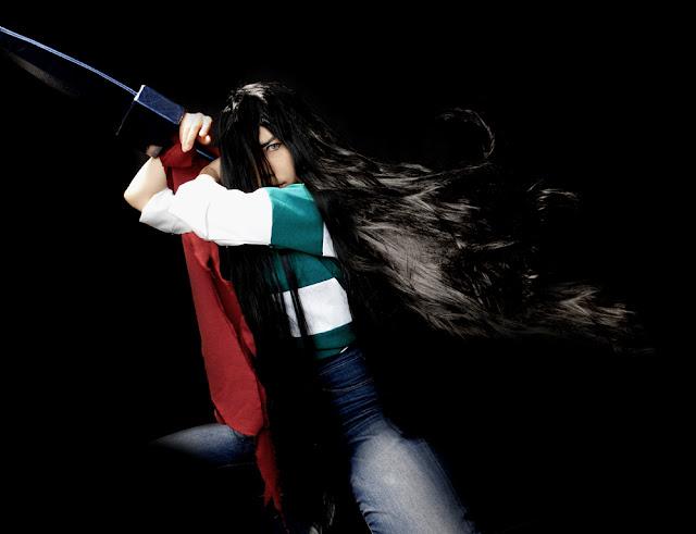 Costume playing w wykonaniu claire, która przebrała się za postać męską Ushio Aotsuki z anime Ushio to Tora, którego premiera odbyła się latem 2015