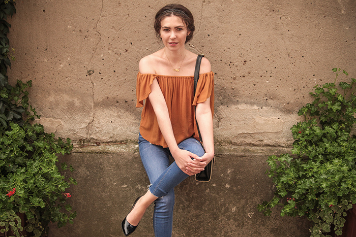 mango off the shoulder top, sandomierz