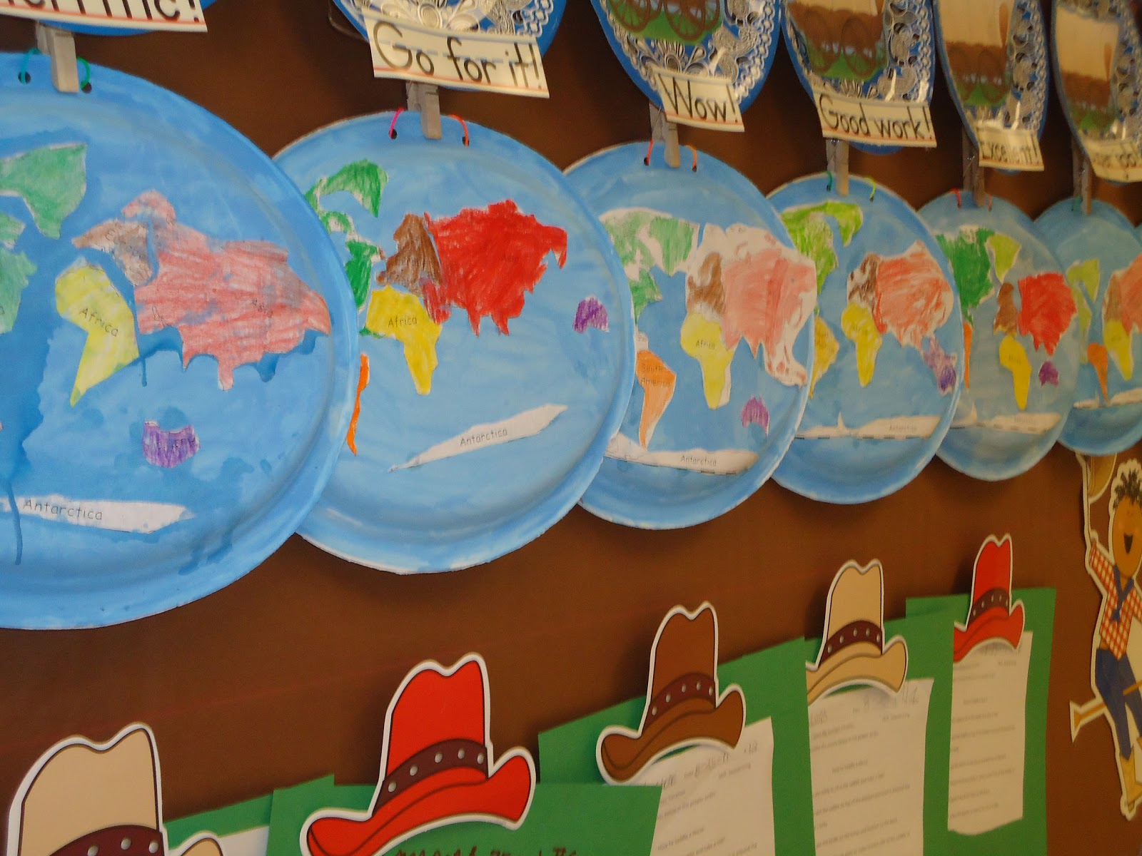 Literacy Minute Paper Plate Continents