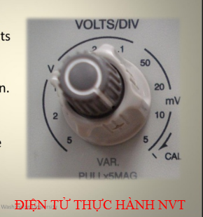 num dieu chinh Volt/DIV