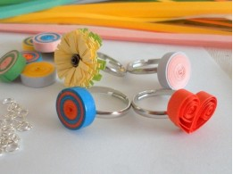 Kids quilling paper finger ring designs - quillingpaperdesigns