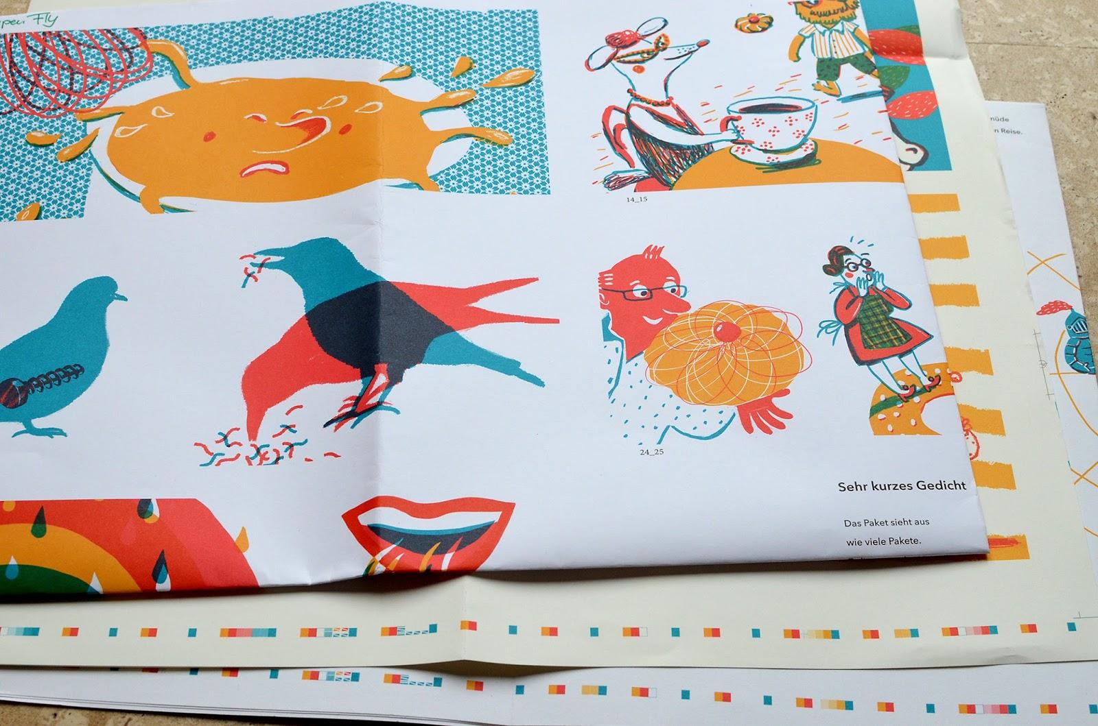 Sabine Kranz Illustration Andruck Sieben Ziegen Mit Drei
