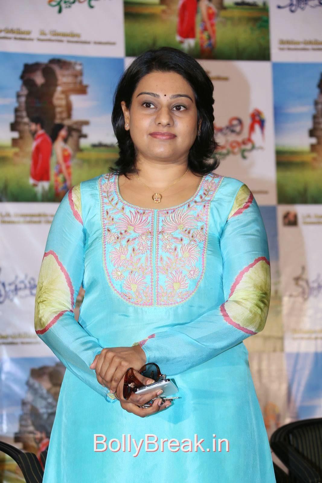 Lagadapati Sirisha Sridhar Stills, Hot HD Images Of Lagadapati Sirisha Sridhar  In Blue Dress At Krishnamma Kalipindi Iddarini Press Meet