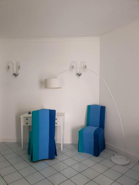 Sorrento, Villa Eliana. Angolo lettura nella suite