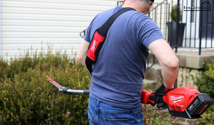 Hedge trimmer attachment for Quik-Lok system