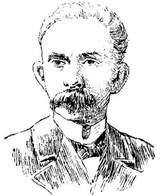 José Martí (dibujo publicado en El Imparcial, Madrid, 27-5-1895)