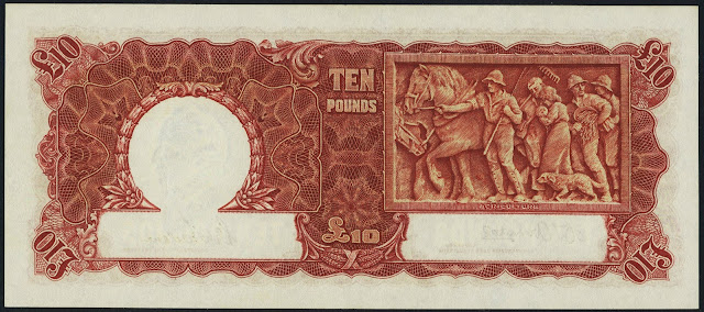 Commonwealth of Australia 10 Pounds banknote 1942 Agriculture