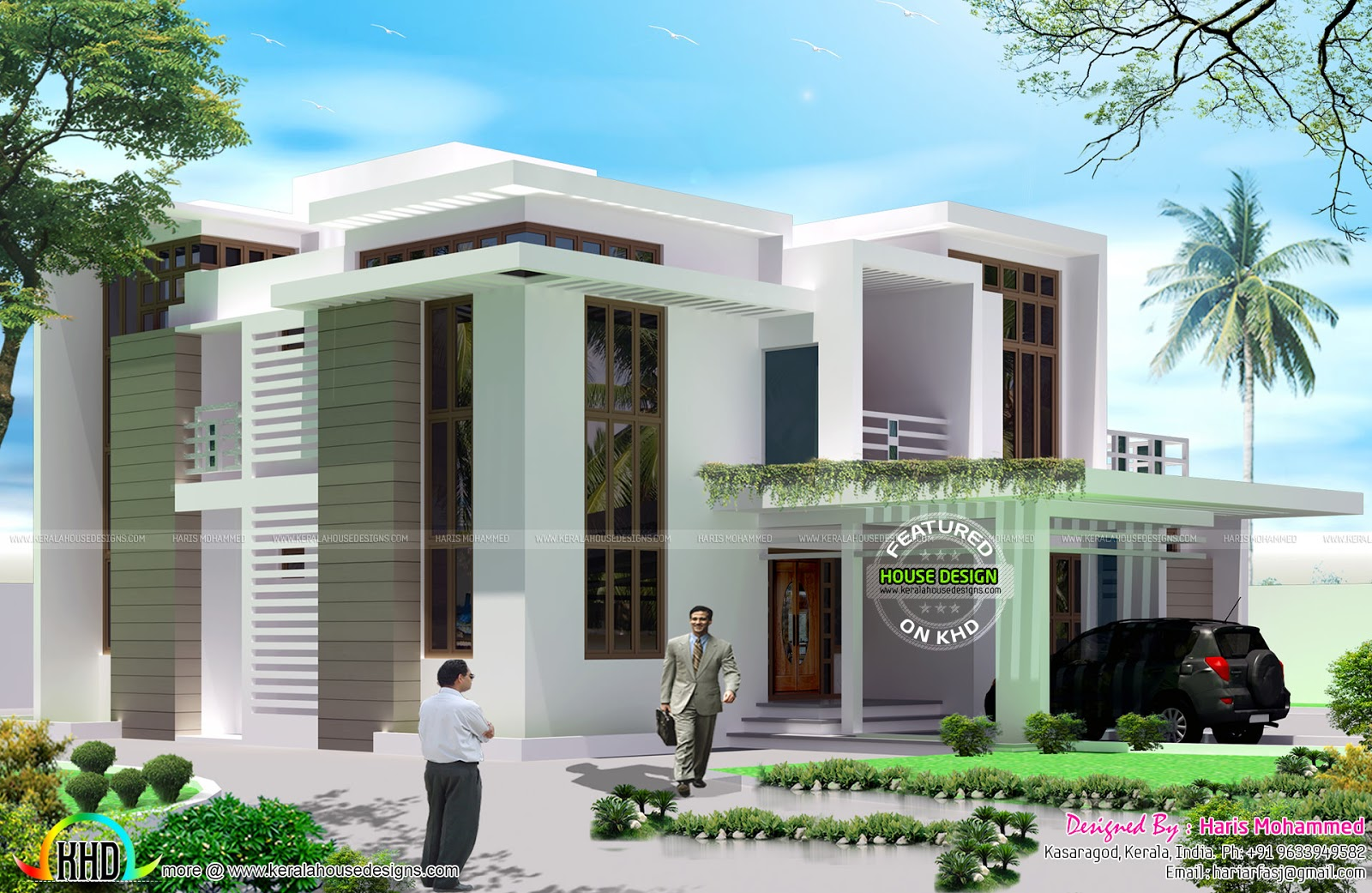 5 bedroom contemporary style house - Kerala home design and floor ...