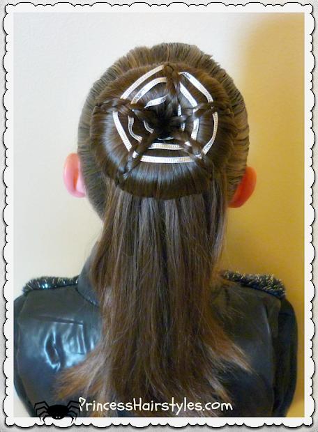 spider web bun hairstyle tutorial