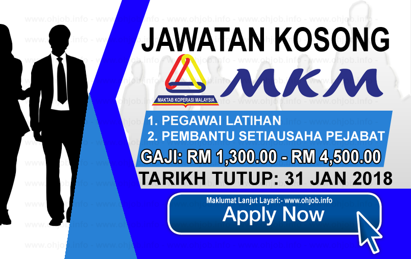 Jawatan Kerja Kosong Maktab Koperasi Malaysia - MKM logo www.ohjob.info januari 2018