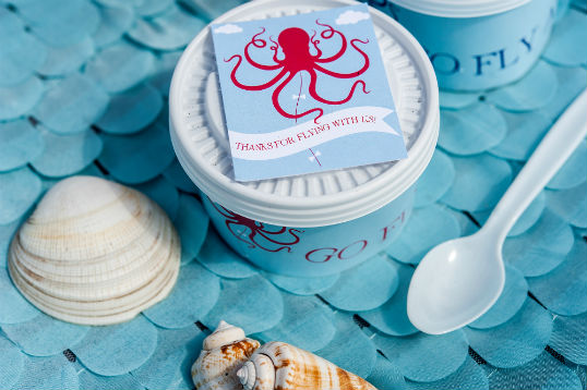 Serve up some clam chowder at your beach party. More beach party inspiration at www.fizzyparty.com