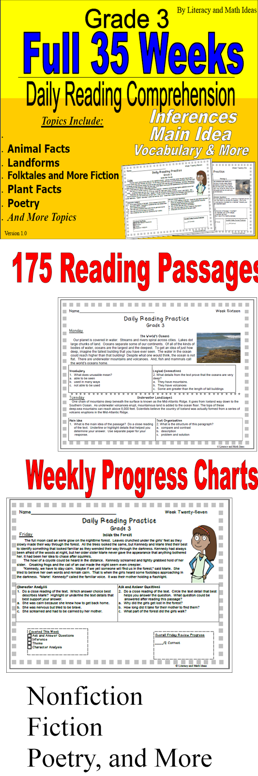 Grade 3 -- 35 Full Weeks of Daily Practice
