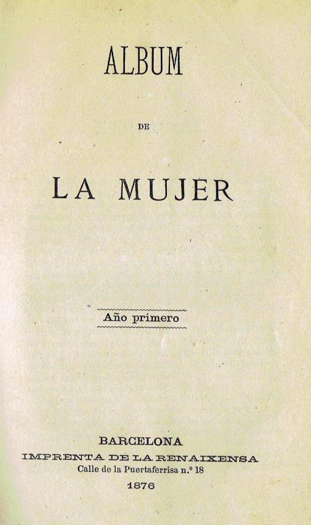 Álbum de la Mujer, portada