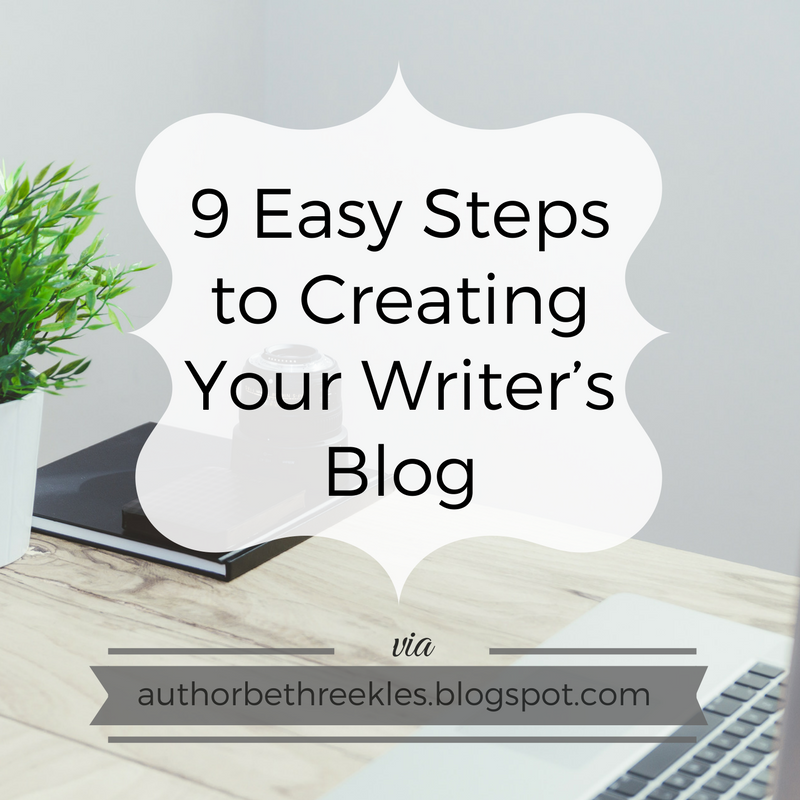 Have you set up a blog to promote yourself as a writer? I share a few easy tips to get you started.