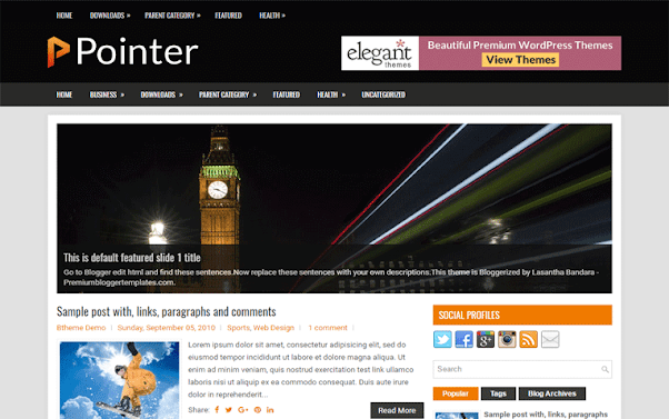 Pointer Free Blogger Template