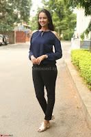 Poojita Super Cute Smile in Blue Top black Trousers at Darsakudu press meet ~ Celebrities Galleries 027.JPG