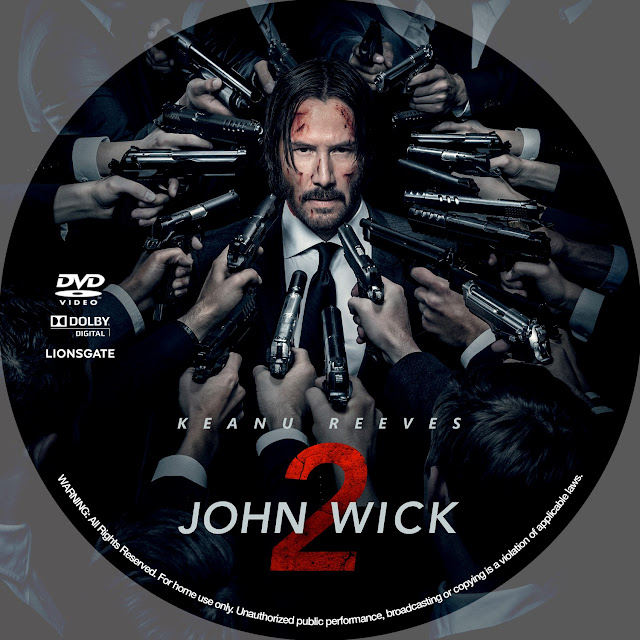 John Wick: Chapter 2 DVD Label